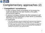 complementary approaches 2