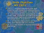 state objectives wv cso s