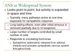 ans as widespread system