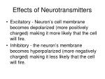 effects of neurotransmitters