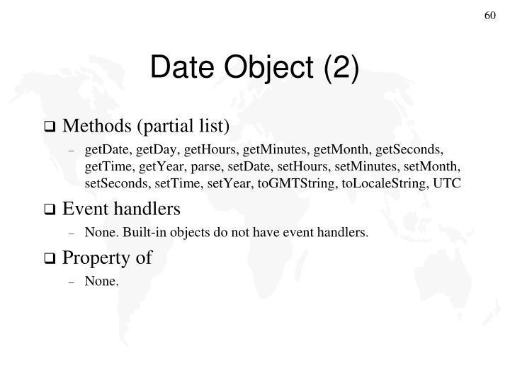 Date Object (2)