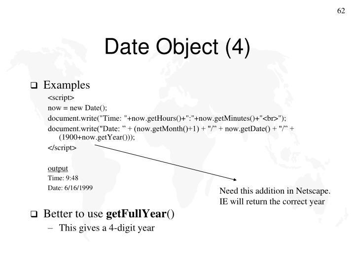 Date Object (4)
