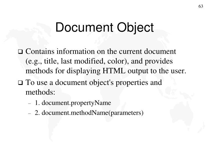 Document Object