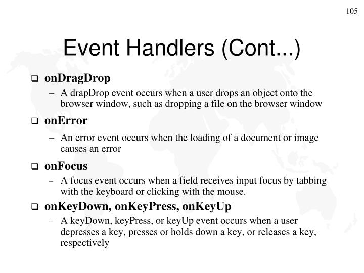Event Handlers (Cont...)