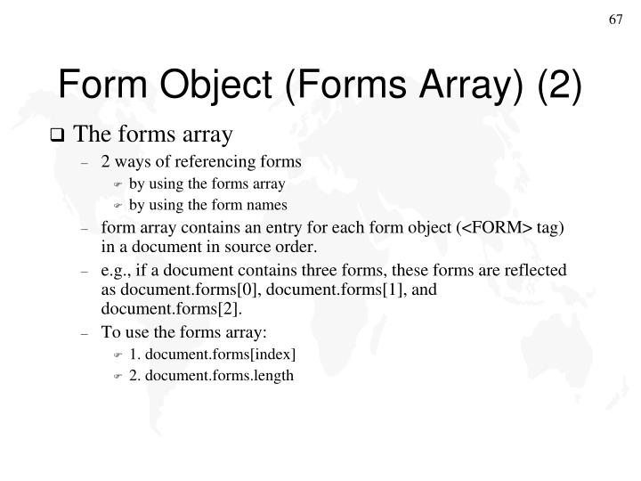 Form Object (Forms Array) (2)