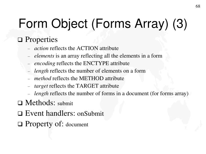 Form Object (Forms Array) (3)
