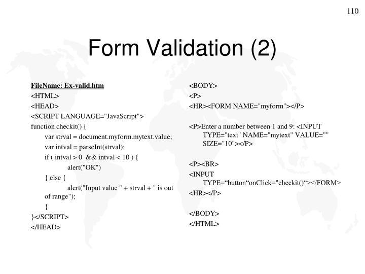 FileName: Ex-valid.htm