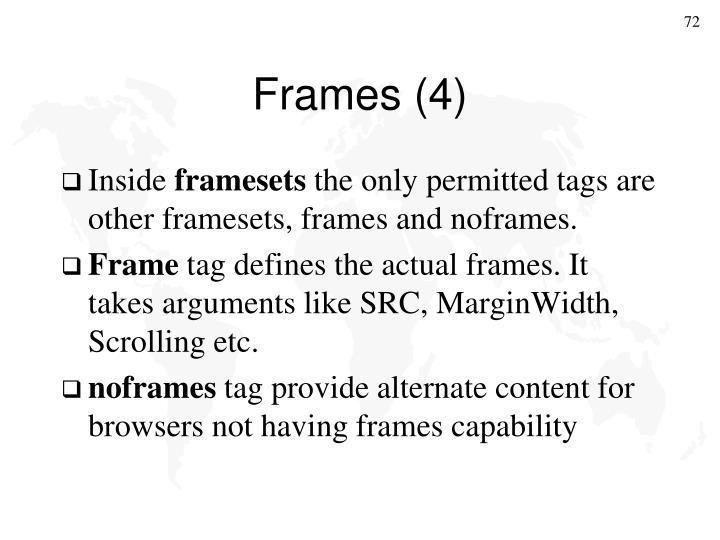 Frames (4)