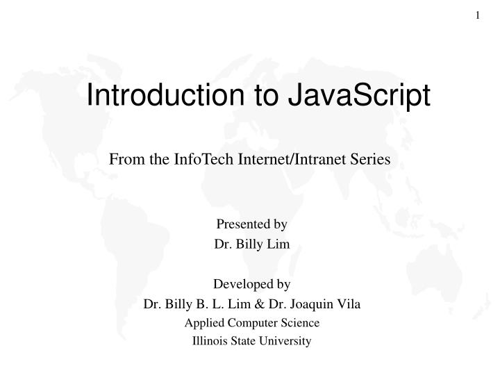 introduction to javascript n.