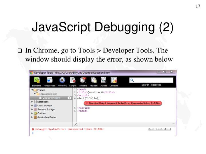 JavaScript Debugging (2)