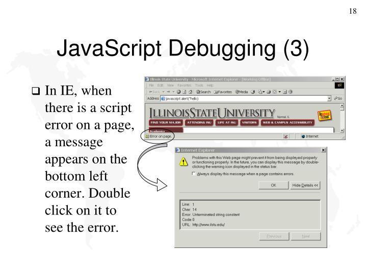 JavaScript Debugging (3)
