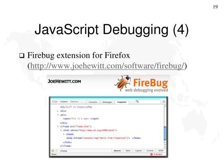 JavaScript Debugging (4)