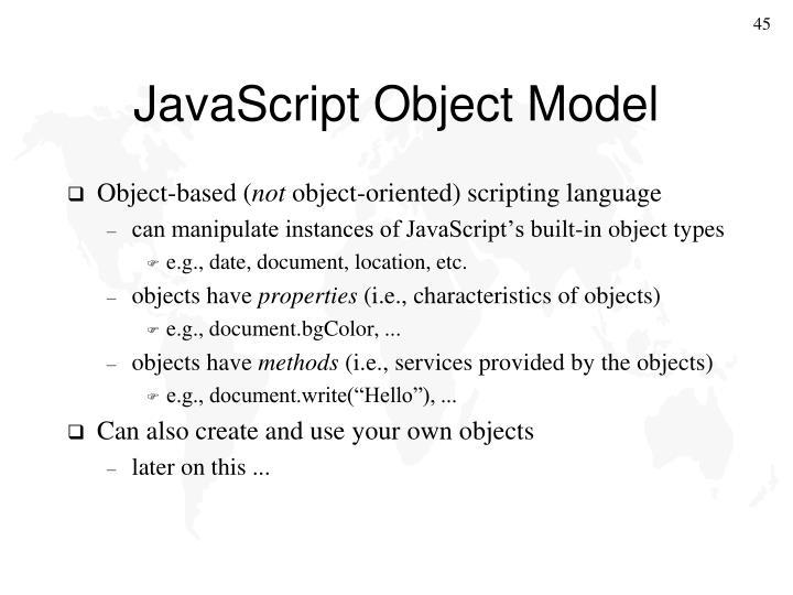 JavaScript Object Model