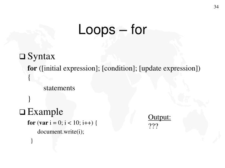 Loops – for