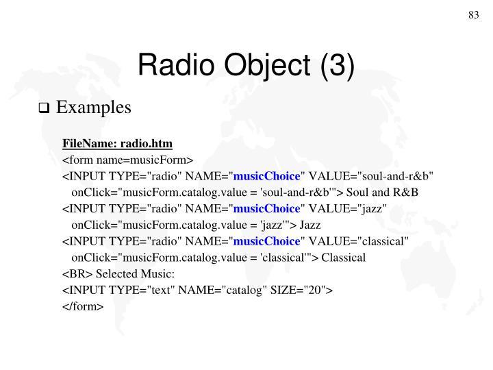 Radio Object (3)