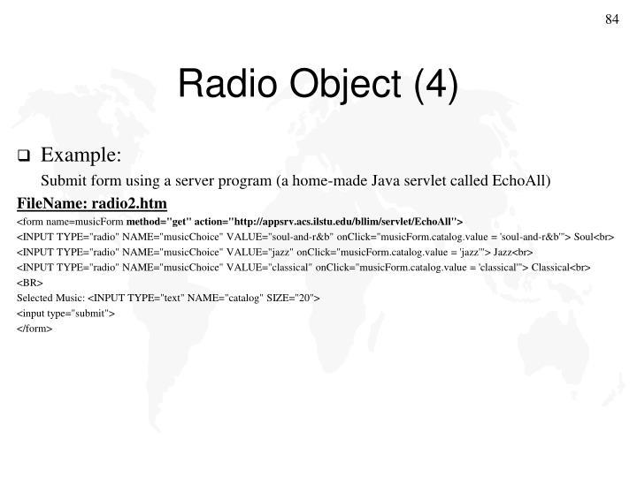Radio Object (4)