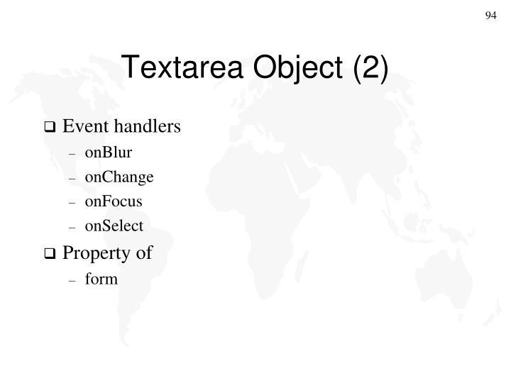 Textarea Object (2)