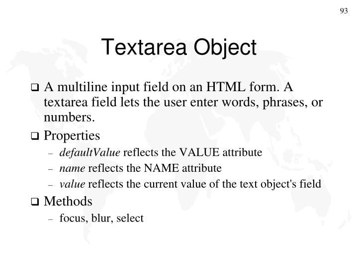 Textarea Object