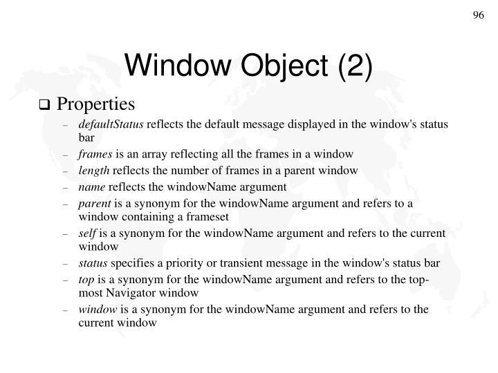 Window Object (2)