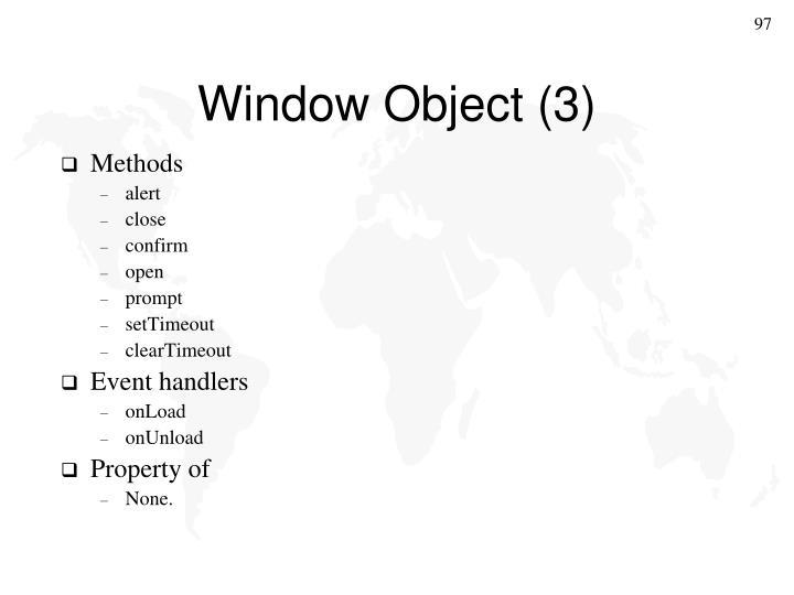 Window Object (3)