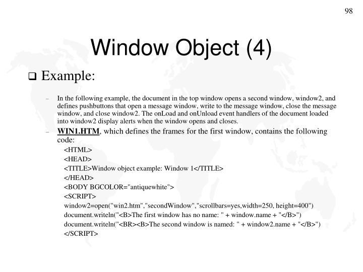 Window Object (4)