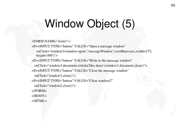 Window Object (5)