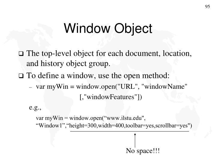 Window Object