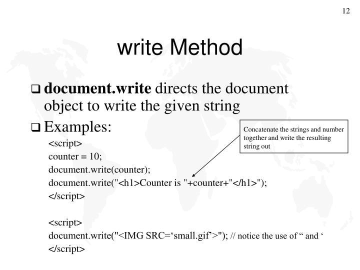 write Method