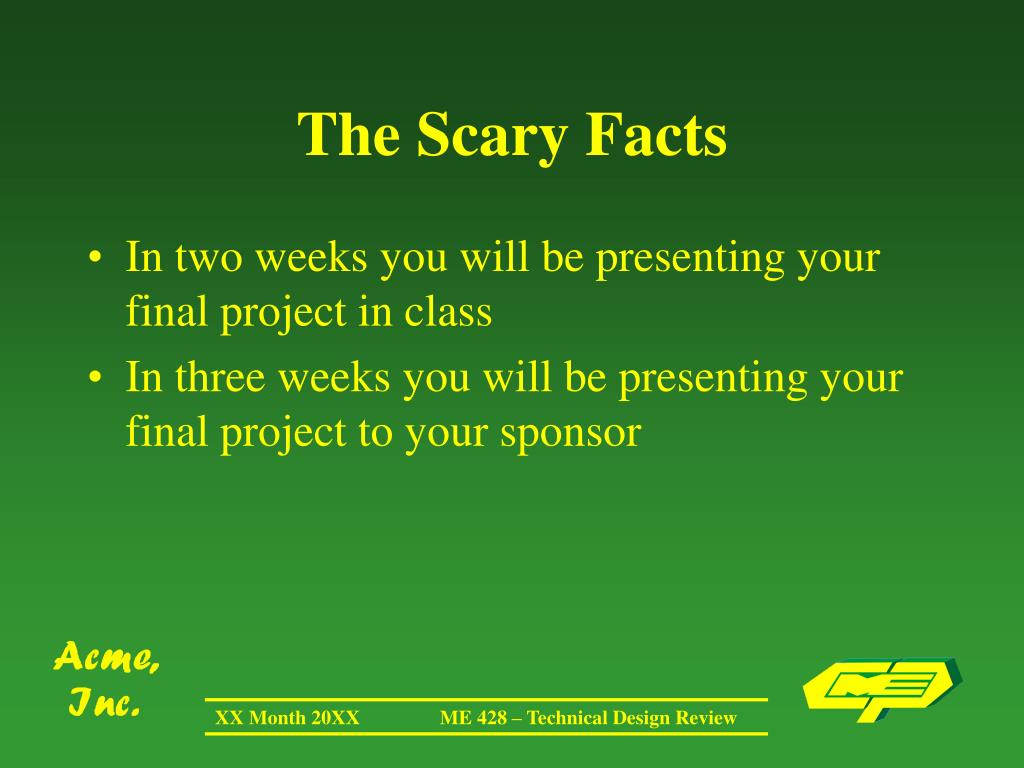 The Scary Facts