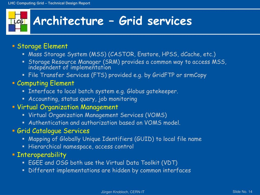 Architecture – Grid services