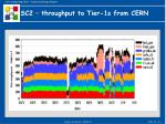sc2 throughput to tier 1s from cern