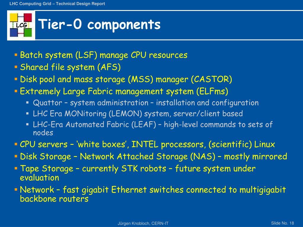 Tier-0 components