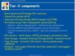 tier 0 components