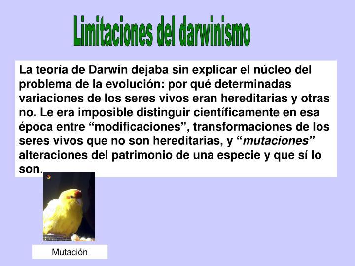 Limitaciones del darwinismo