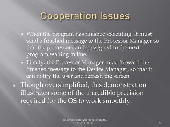 Cooperation Issues