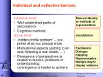 individual and collective barriers
