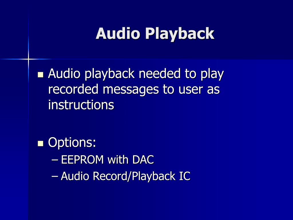 Audio Playback