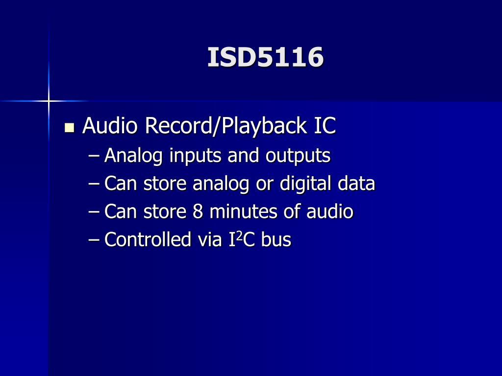 ISD5116