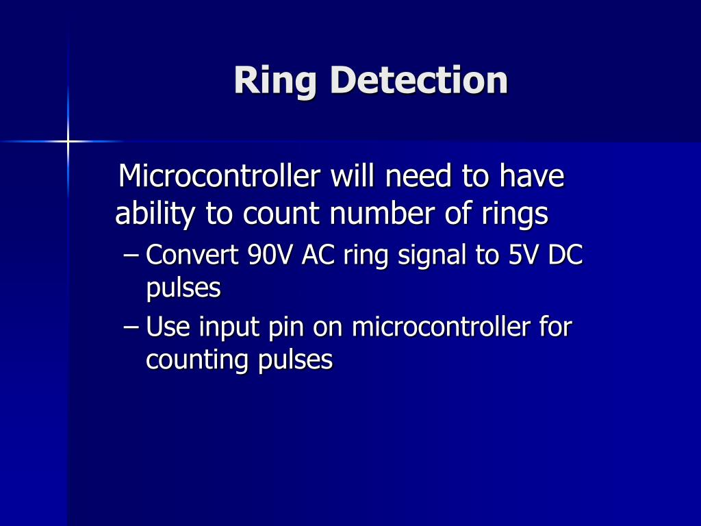 Ring Detection