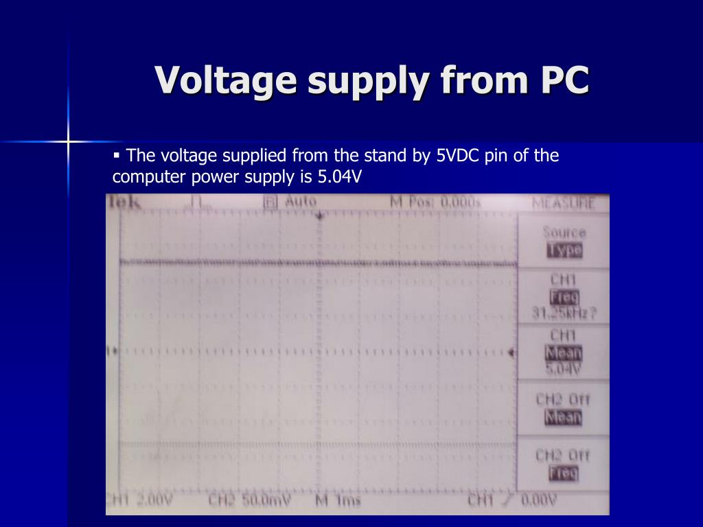 Voltage supply from PC