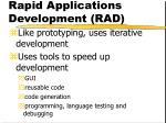 rapid applications development rad