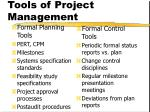 tools of project management