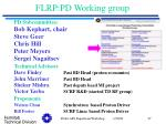 flrp pd working group