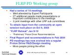 flrp pd working group28