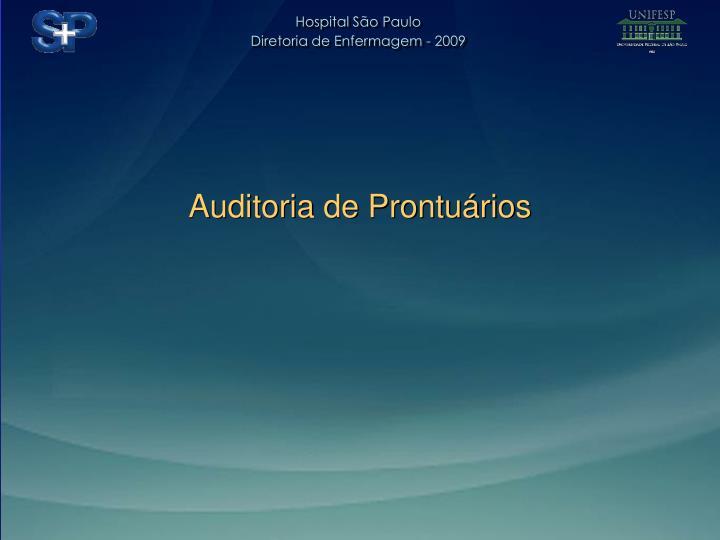 Auditoria de Prontuários