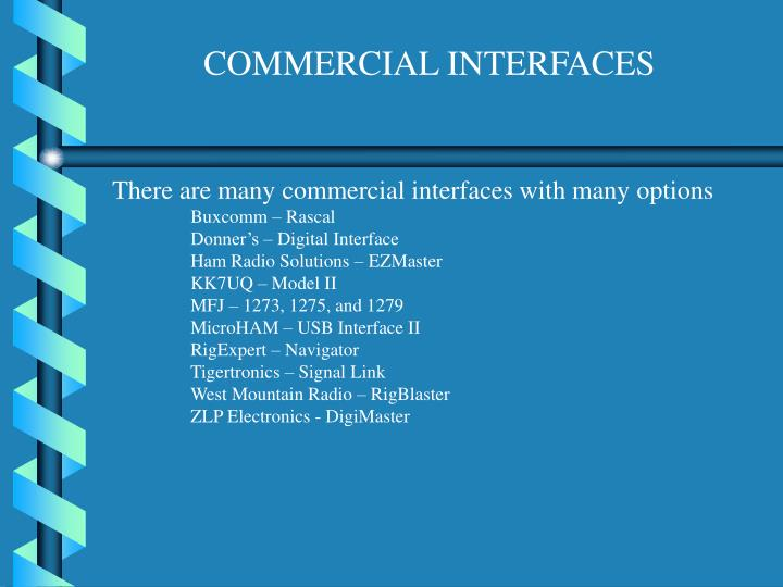 COMMERCIAL INTERFACES