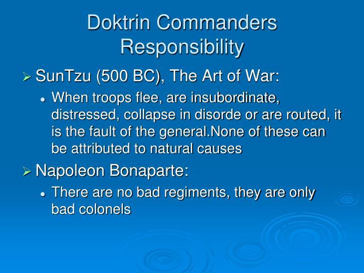 Doktrin Commanders Responsibility