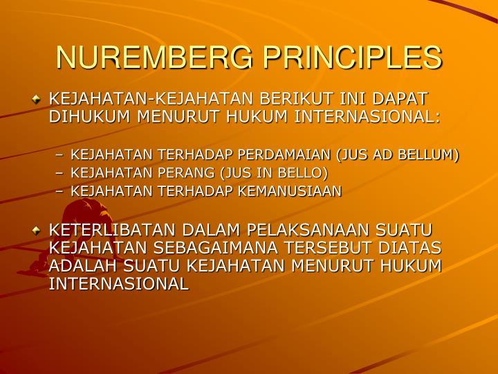 NUREMBERG PRINCIPLES