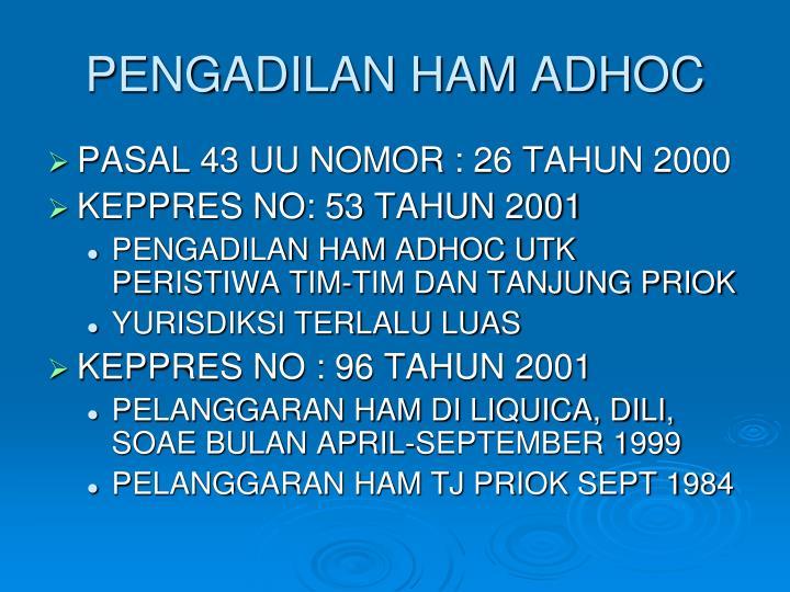 PENGADILAN HAM ADHOC