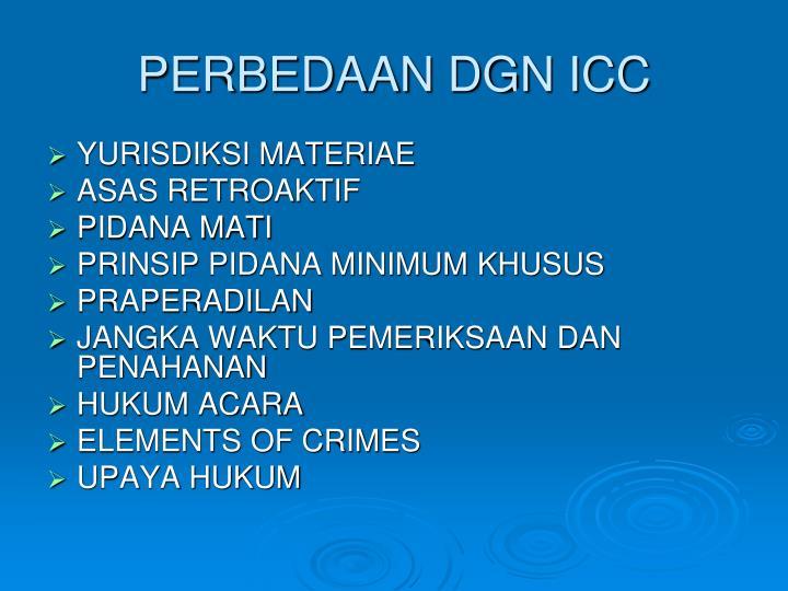 PERBEDAAN DGN ICC